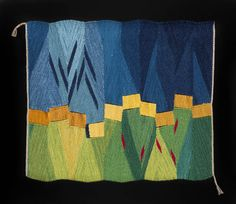 "Connie Lippert: Prairie wool, linen, natural dyes 25"" X 30"" Photo: Eli Warren"