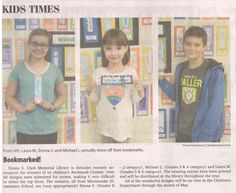 Congrats again to the winners of our Bookmark Contest - here they are in the Times Beacon Record Newspapers today!