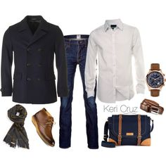 Men's Fall Fashion by keri-cruz on Polyvore featuring Burton, Ted Baker, PRPS, Burberry, Sperry Top-Sider, GUESS and Allen Edmonds