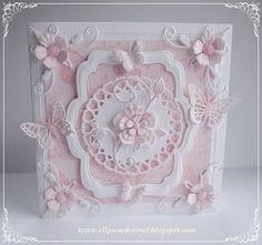 Elly's Card- Corner: Soft rose ......