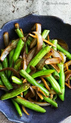 beans stir fried with ginger, onions, garlic and a little soy sauce ...