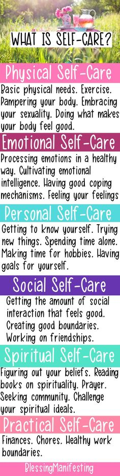 Self care. Wellbeing and self care for mental state, physical and emotional.