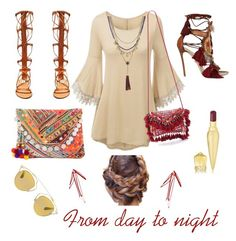 """""""Day-night"""" by domadorka on Polyvore featuring Dsquared2, Shashi, Valentino, Vince Camuto, Christian Dior and Christian Louboutin"""