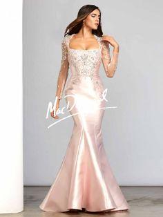 Blush Pink Long Sleeve Dress | Couture | Mac Duggal 80382D