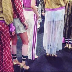 Backstage @baumundpferdgarten SS17 Runway Show at COPENHAGEN Fashion week. Beautiful #baumundpferdgarten #cphfw #danishfashion #cphfwss17 #scandistyle #copenhagen #models #catwalk
