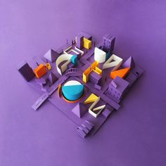 Teasers for Papercraft Campaign by FullFill Artplication, via Behance