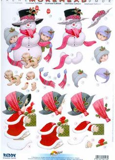 3D decoupage/paper crafting sheets