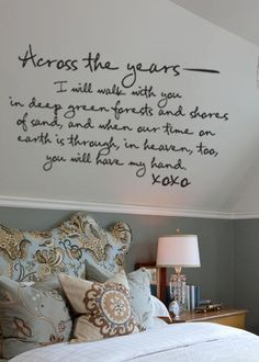 Romantic bedroom wall art lovely quote vinyl wall art sweet home love wall decor house design . Bedroom Quotes, Bedroom Wall, Master Bedroom, Bedroom Decor, Wall Decor, Bedroom Ideas, Wall Art, Shabby Bedroom, Shabby Cottage