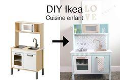 Une cuisine moderne menthe et or