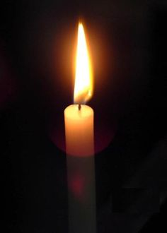Candle for Susie.  This is a candle that journeyed for someone to help them fight cancer.