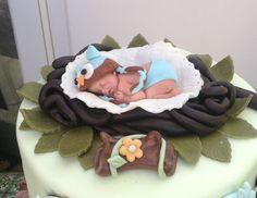 OWLBABYDusche Cake Topper Fondant Eule von BabyCakesByJennifer, $45.00