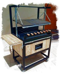 Bbq Grill, Fire Pit Grill, Grilling, Barbecue Four A Pizza, Parrilla Exterior, Brazilian Bbq, Custom Bbq Pits, Welding Design, Brick Bbq
