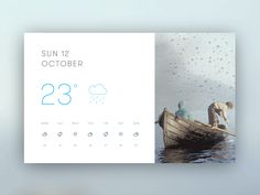 I had an idea for a weather app that gives you a window to the outside. You can glance at the looping cinemagraph to get an immediate impression of the imminent weather.     The thinking was that thi...