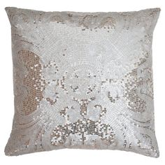 Found it at Wayfair - Ludo Sequin Pillow in Silver