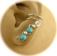 Gemstone and Sterling Silver Pair of Ear Cuffs with Your Choice of 10 Colors, Silver Ear Cuff, Gemstone Ear Cuff, Non Pierced, Celtic Cuff by AdoraBellaJewelry on Etsy https://www.etsy.com/listing/96285846/gemstone-and-sterling-silver-pair-of-ear