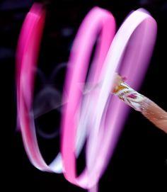 Juegos Olímpicos Londres 2012 - La bielorrusa Liubou Charkashyna durante la final de gimnasia rítmica.