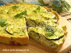 Cuketový quiche - recepty Quiche, Food And Drink, Pizza, Cooking, Breakfast, Cook Books, Basket, Kitchen, Morning Coffee