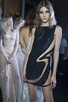 Backstage at #AtelierVersace Spring Summer 2015 fashion show. #Versace #InsideAtelierVersace