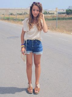 With nude oxfords & this outfit is cuter.
