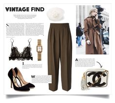 """""""Vintage YSL pants"""" by kelly-m-o ❤ liked on Polyvore"""