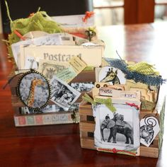 African inspired mixed media photo crates - 7gypsies Serengeti Line