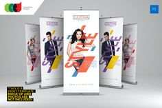 Cautiva Roll-Up Banner 2 by Cooledition on Creative Market