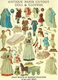 Image result for muñecas de papel antiguas bebes