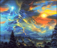 "Painting by Dale Terbush, ""Whisper of Heaven"""