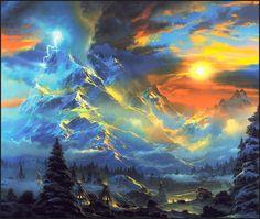 "Painting by Dale Terbush, ""Whisper of Heaven"""