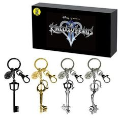 Kingdom Hearts Keyblade Pewter Key Chain 4-Pack Set - San Diego Comic-Con 2016 Exclusive