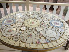 Mosaic Table and Chairs