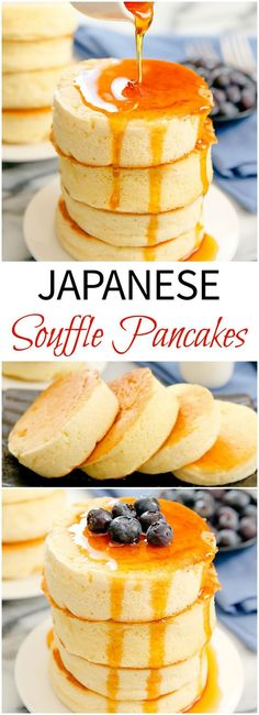 the 4 Cycle Solutions Japanese Diet - Japanese Souffle Pancakes. Incredibly light and fluffy. Make these popular trendy pancakes at home! Discover the Worlds First & Only Carb Cycling Diet That INSTANTLY Flips ON Your Bodys Fat-Burning Switch Souffle Pancakes, Pancakes And Waffles, French Pancakes, Pancakes Easy, Buttermilk Pancakes, Brunch Recipes, Dessert Recipes, Pancake Recipes, Breakfast Recipes