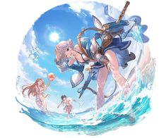 Summer Farrah Artwork from Granblue Fantasy Game Character Design, Character Art, Fantasy Characters, Anime Characters, Anime Devil, Fantasy Kunst, Anime Kunst, Korean Art, Cute Anime Pics