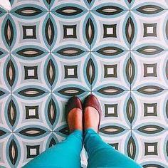 1900: Dorda Celeste - 20x20cm.   Floor Tiles - Gres   VIVES Azulejos y Gres S.A. #floors #feet #IHaveThisThingsWithFloors