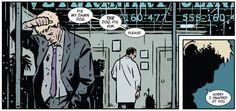 Hawkeye #1 (2012). Matt Fraction, writer; David Aja, artist; Matt Hollingsworth, colorist.