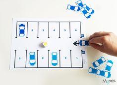 jeu de voiture - à faire aussi avec de vraies petites voitures