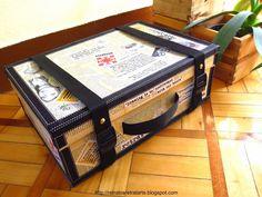 Tutorial: Maleta-expositor / Tutotial: Suitcase-Display case                                                                                                                                                                                 Más