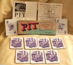 PIT BULL BEAR EDITION CARD GAME PARKER BROTHERS 1919 USA TRADING CORN WHEAT OATS #ParkerBrothers