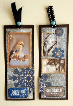 Scrapperlicious: Resolution Bookmarks by Irene Tan using BoBunny pattern papers