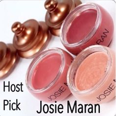 ✨Host Pick✨ Josie Maran Argan Lip Treatment Trio Set of 3 of Josie Maran's popular Argan oil lip therapy. Includes 1 of each shade: Heaven, Rosey & Kiss Me. Wt of each 0.24 oz. Retails individually for $18. BNIB. Never used or swatched. 100% Authentic. No Trades, No PP. Price Is Firm! Josie Maran Makeup Lip Balm & Gloss