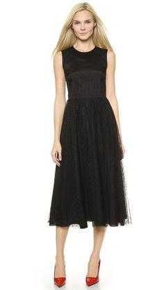 RED Valentino Soft Point d'Espirit Dress