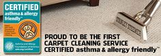 CERTIFIED Asthma & Allergy Friendly Carpet Cleaning Services by Stanley Steemer | Removes 94% of household allergens, including: pollen spores, dust mites, and animal dander. | Occasional deep cleaning of carpets and rugs would definitely help asthma, allergies and related headaches!