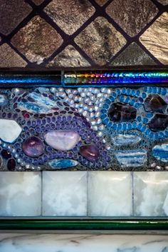 The actress's handmade stone-encrusted renovation may take the rest of her life to complete. Gaudí would be impressed. Mosaic Art, Mosaic Glass, Stained Glass, Theatre In The Round, Melissa Leo, Ny Times, Theater, Lawn, Butterflies