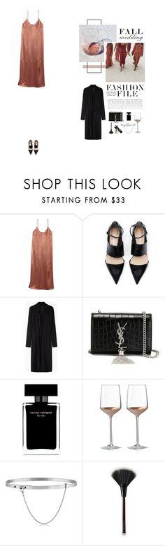 """Fall Wedding: Silk Dress"" by nudenim on Polyvore featuring Mode, Lauren Manoogian, Yves Saint Laurent, Narciso Rodriguez, Wedgwood, Eddie Borgo, Kevyn Aucoin und Garance Doré"