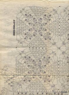 Patterns and motifs: Crocheted motif no. Crochet Chart, Filet Crochet, Crochet Motif, Crochet Doilies, Hand Crochet, Crochet Tablecloth Pattern, Crochet Bedspread Pattern, Crochet Curtains, Unique Crochet