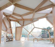 """The primitive homes of the future"" Tokyo Gas invited four Japanese architects to design the house of the future. Design Toyo Ito, Terunobu Fujimori, Sou Fujimoto, Taira Nishizawa."