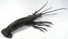 Japanese Articulated Iron Lobster Signed Myochin.