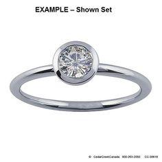 CC-30618     14K White Gold .50-Ct Round Bezel Engagement Ring Mounting