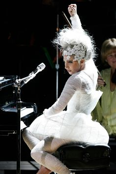 Vogue explores Lady Gaga's most fashion forward looks and memorable onstage outfits. See Lady Gaga's performance style evolution Lady Gaga Outfits, Lady Gaga Fashion, Celebrity Photos, Celebrity Style, Fashion Show Makeup, Lady Gaga Pictures, Theatre Costumes, Calvin Klein Collection, Fashion History