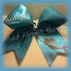 Mermaid Cheer Bow Disney's Little Mermaid / Ariel by MadAboutBows1, $15.00